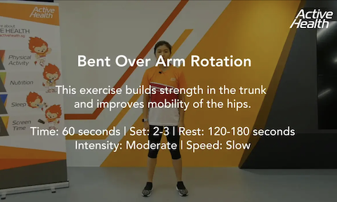 Active Health Exercises for Masters - Bent Over Arm Rotation Thumbnail