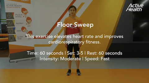Active Health Exercises for Masters - Floor Sweep Thumbnail