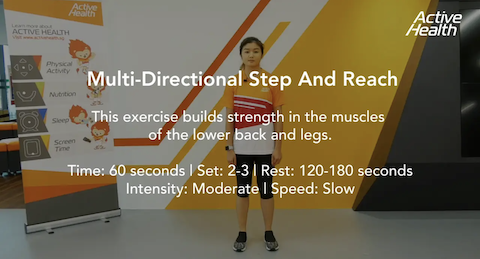 Active Health Exercises for Masters - Multi-Directional Step and Reach Thumbnail