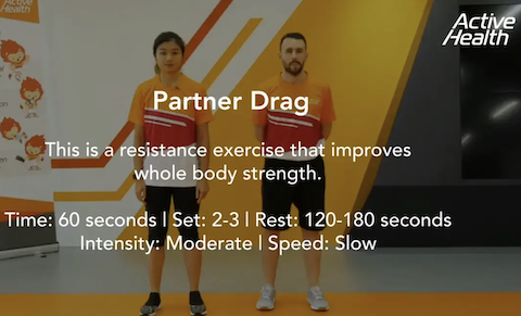 Active Health Exercises for Masters - Partner Drag Thumbnail