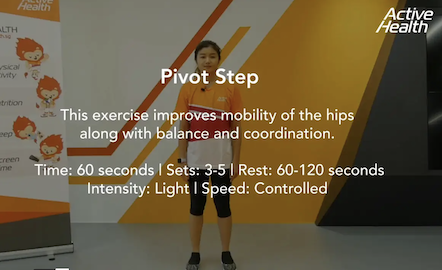 Active Health Exercises for Masters - Pivot Step Thumbnail