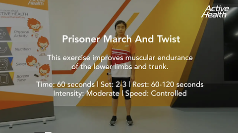 Active Health Exercises for Masters - Prisoner March and Twist Thumbnail