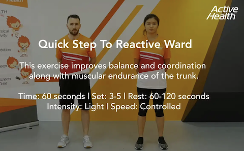 Active Health Exercises for Masters - Quick Step To Reactive Ward Thumbnail