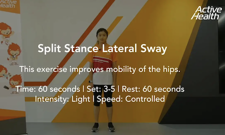 Active Health Exercises for Masters - Split Stance Lateral Sway Thumbnail