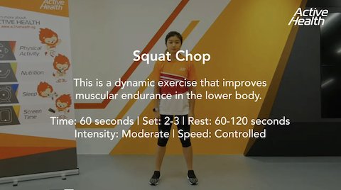Active Health Exercises for Masters - Squat Chop Thumbnail