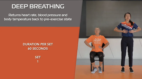 Simple Stretching for Seniors Ep 10 - Deep Breathing Thumbnail