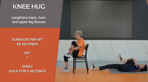 Simple Stretching for Seniors Ep 13 - Knee Hug Thumbnail