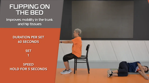 Simple Stretching for Seniors Ep 14 - Flipping on the Bed Thumbnail