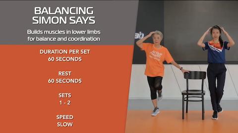 Simple Stretching for Seniors Ep 3 - Balancing Simon Says Thumbnail