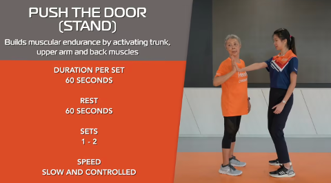 Simple Stretching for Seniors Ep 4 - Push The Door (Stand) Thumbnail
