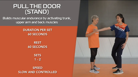Simple Stretching for Seniors Ep 7 - Pull The Door (Stand) Thumbnail