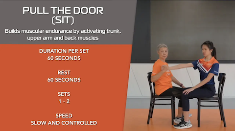 Simple Stretching for Seniors Ep 8 - Pull The Door (Sit) Thumbnail