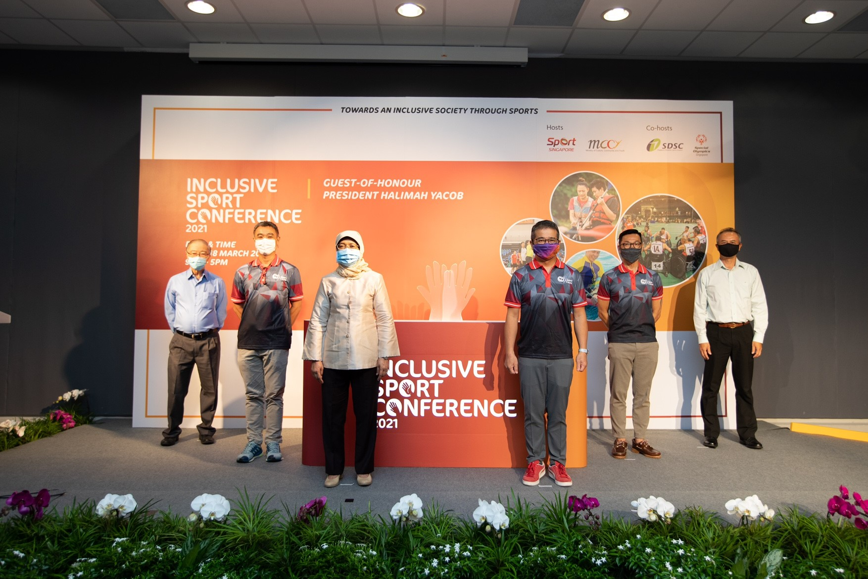 Inaugural Inclusive Sport Conference 2021 : President Halimah encourages persons with disabilities to play sport regularly
