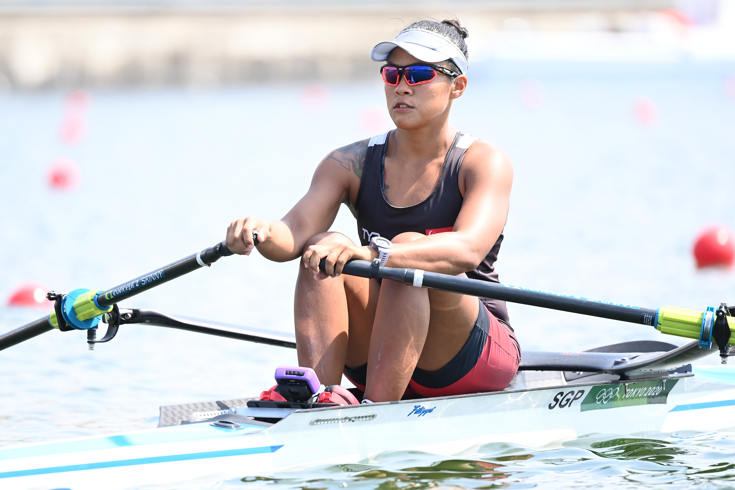 Tokyo 2020 : Rower Joan Poh kicks off TeamSG's campaign with a brave performance on her Olympic debut!