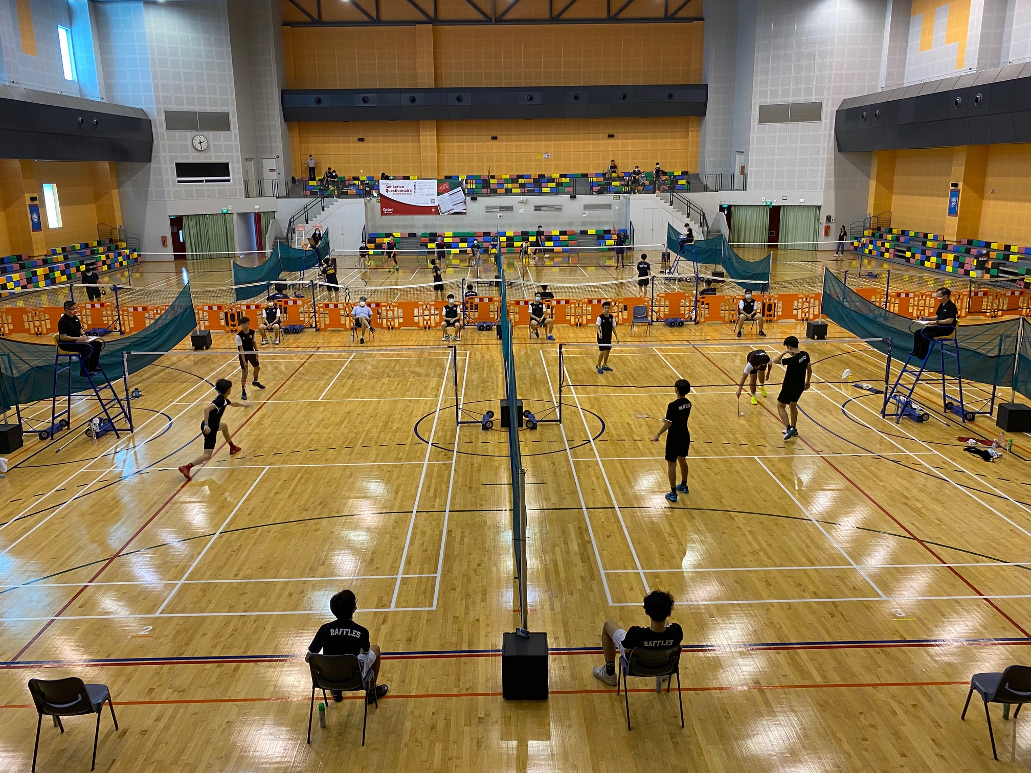 NSG Badminton: RI's shuttlers take top spot in Group C, after their recent 4-1 triumph over VJC!