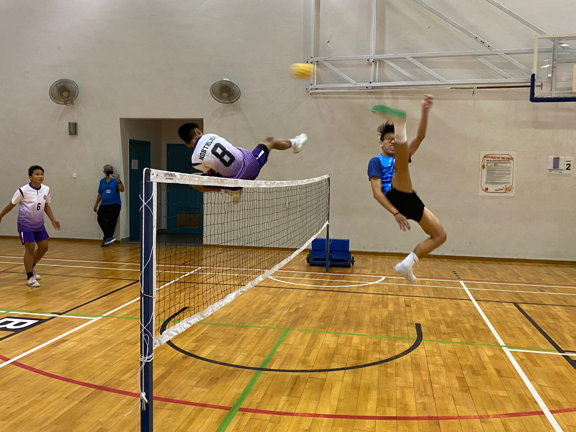 NSG A Div Sepak Takraw: Woodlands Sec show title intent in 3-0 series win over Northlight!