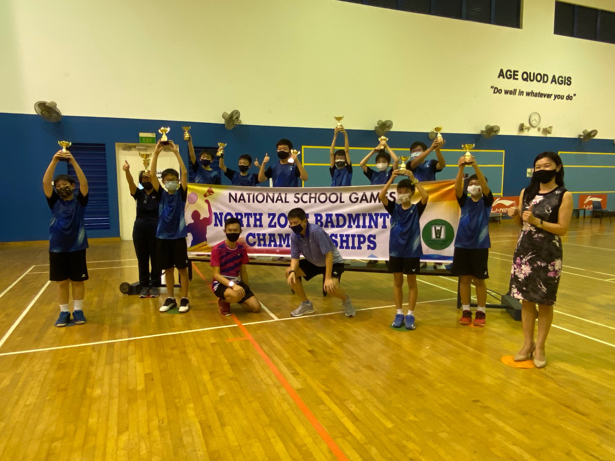 NSG Badminton : Rosyth School wins back-to-back Boys' championship title!