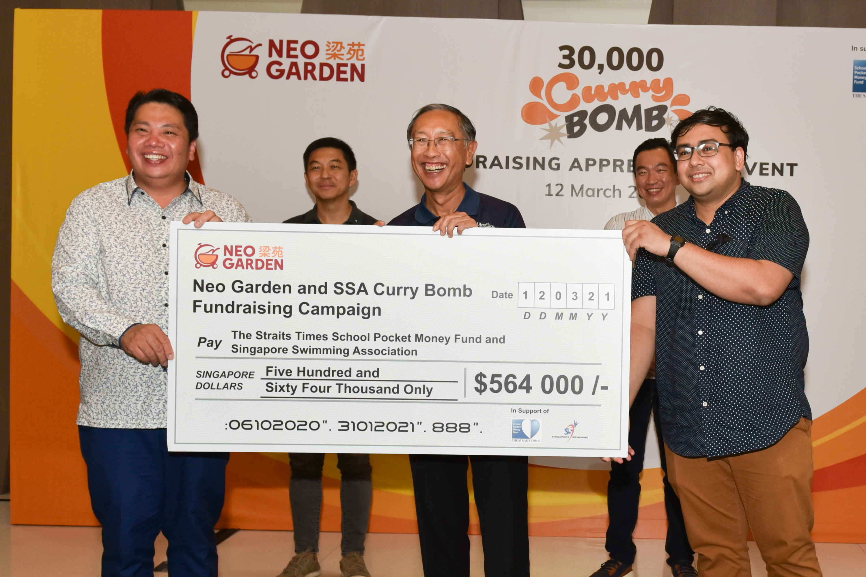 NEO GARDEN raises more than $500,000 for Singapore Swimming Assn & the Straits Times School Pocket Money Fund