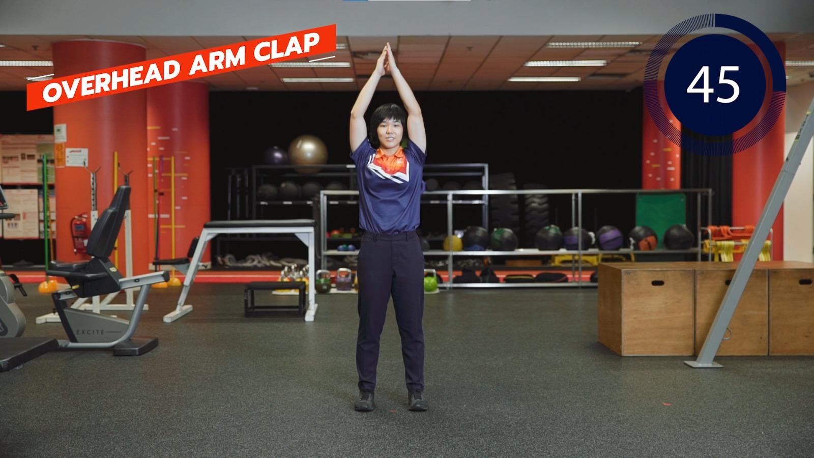 overhead arm clap