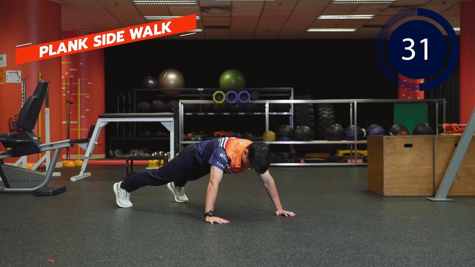 plank side walk